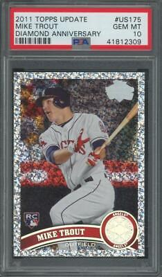 2011 Topps Update Diamond Anniversary#US175 Mike Trout RC Rookie Gem Mint PSA 10