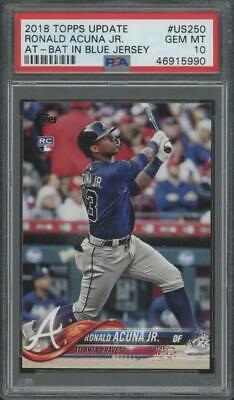 2018 Topps Update At Bat #US250 Ronald Acuna Jr. RC Rookie Gem Mint PSA 10