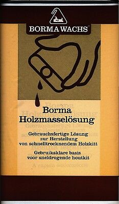 Lösung Holz (Borma Holzmasselösung,Holzkitt 1 Liter ,Borma Wachs,Grundpreis:14,90 € / Liter )