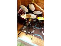 Tiger 5Pc Drum kit- HH, Crsh, Stcks, Stool