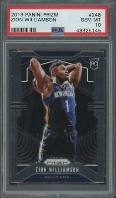 2019 Panini Prizm #248 Zion Williamson RC Rookie Gem Mint PSA 10