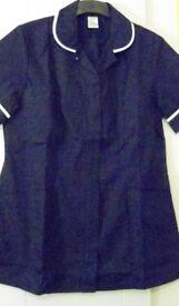 Alexandra Workwear Female Navy Blue Short Sleeved Tunic. Size 14-16