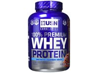 USN 100% Premium Whey Protein Shake Powder - 2.28 kg, Chocolate - New & Sealed