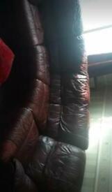 2 Pre-loved burgundy sofas