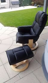 seing a leather black chair