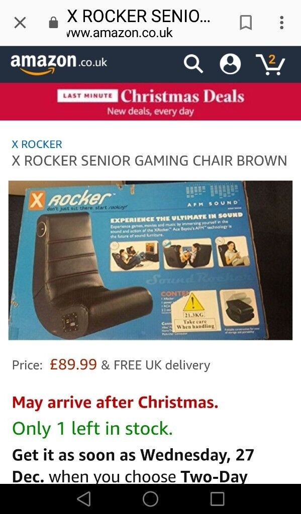 Gaming chair. X ROCKER. Very good condition.