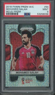 2018 Panini Prizm World Cup Mojo #54 Mohamed Salah Mint PSA 9