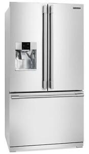Réfrigérateur FRIGIDAIRE 36 po,Distributeur d'eau et de glace,27 pi.cu.,Profondeur Comptoir, Blanc (SKU:1421) FPBS2277RF