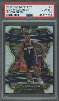 2019 Panini Select Silver #1 Zion Williamson RC Rookie Gem Mint PSA 10