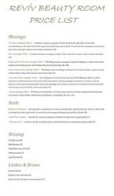 Beauty treatments/massage