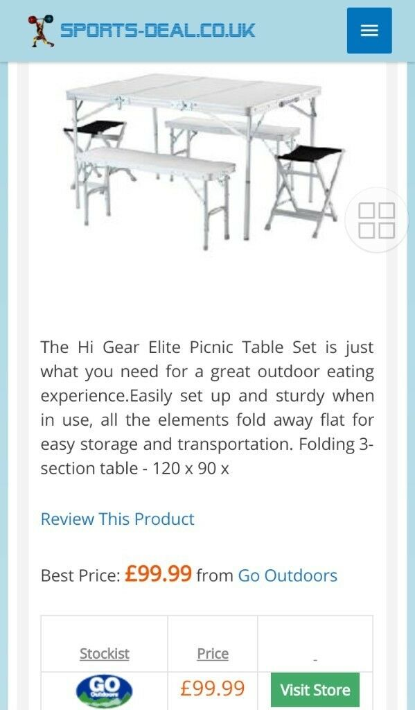 HiGear Elite Picnic C&ing Table Set  sc 1 st  Gumtree & HiGear Elite Picnic Camping Table Set | in Liverpool Merseyside ...
