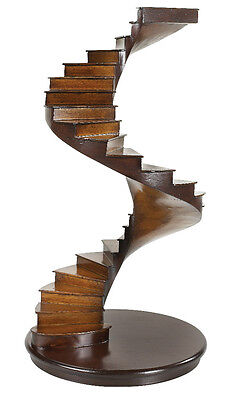 """Spiral Stairs Architectural 3D Wooden Model 15"""" Staircase Authentic Models New"""