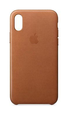 Genuine Apple iPhone X Leather Case - Saddle Brown MQTA2ZM/A - In Retail Box VG
