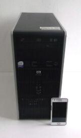 HP (i3, 5GB Ram, WIFI, Adobe CS6, Office 2013, Win 7, Business, Core E6600) Desktop PC, Computer, PC