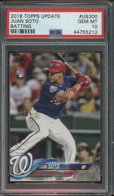 2018 Topps Update Batting #US300 Juan Soto RC Rookie Gem Mint PSA 10