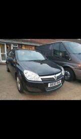 Black Vauxhall astra. Very low mil