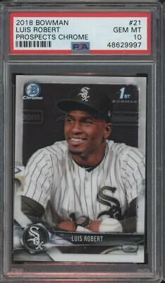 2018 Bowman Chrome #21 Luis Robert RC Rookie Gem Mint PSA 10