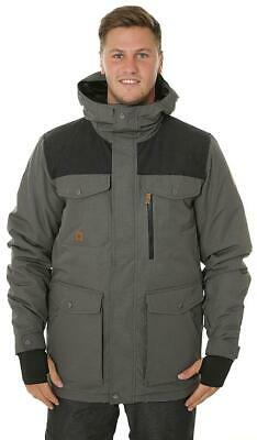 New Quiksilver Raft Snowboard/Ski Jacket Coat L Gray Heather Waterproof