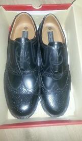 Black leather shoes size 11