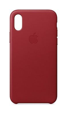 Genuine Apple iPhone X Leather Case - (PRODUCT) RED MQTE2ZM/A - In Retail Box VG