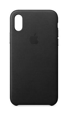 Genuine Apple iPhone X Leather Case Black - MQTD2ZM/A - UD