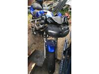 Suzuki SV650 Blue Breaking