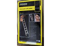 Youngman telescopic aluminium loft ladder - in box