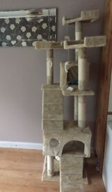 Cat Tower approximately 6ft high