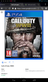 call of duty ww2 ps4 £30