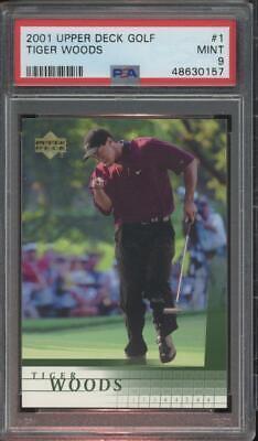 2001 Upper Deck Golf #1 Tiger Woods RC Rookie Mint PSA 9