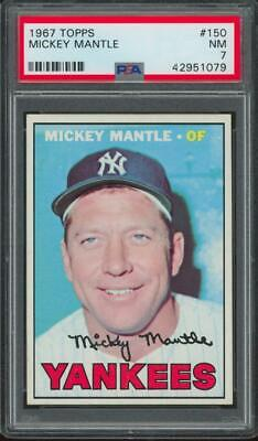 1967 Topps #150 Mickey Mantle NM PSA 7
