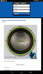 "Fusion 12"" subwoofer competition quality, 2008 discontinued Bentleigh Glen Eira Area Preview"