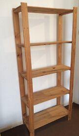 Wooden Shelving Unit - 5 Shelves - Good Condition