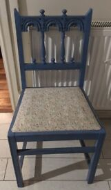 Vintage shabby chic wooden chair