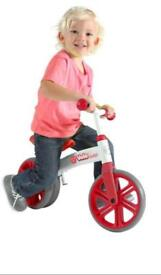 "Y Velo junior balance bike 9"" wheel new in box"