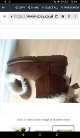 Genuine girld ugg boots size 12