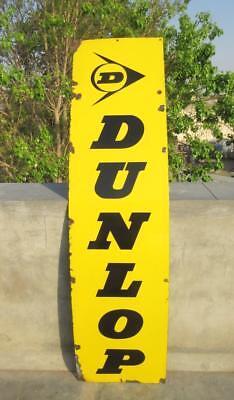 Dunlop Tyre Petrol Oil Gas Station Vintage Original Porcelain Enamel Sign Board