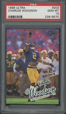 1998 Fleer Ultra #203 Charles Woodson RC Rookie Gem Mint PSA 10