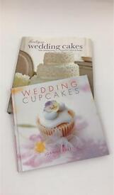 Set of 2 wedding cake books cakes & cupcakes new recipes decorating