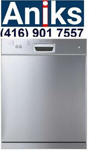Porter & Charles DWTPC5FCSS Energy Star 24in Built-In Tall Tub Dishwasher 5 programs 12 place setting capacity Stainless