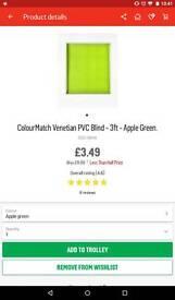 Argos colour match apple green blind