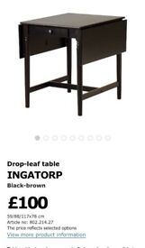 (*FREE SHOE RACK with ) Dining table with 2 chairs