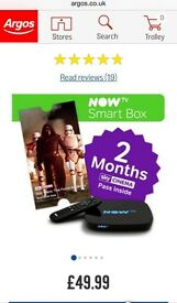 Now tv smart box with 2 months sky cinema pass