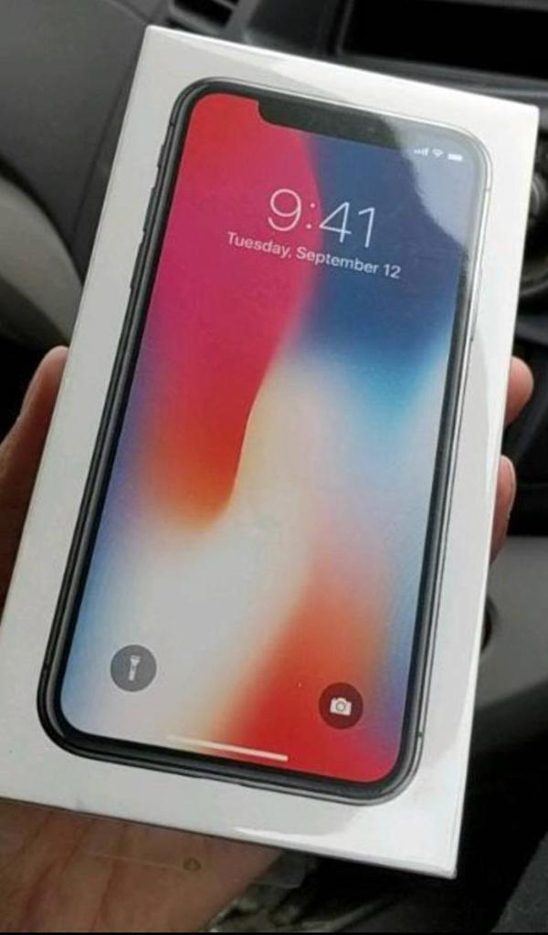 iPHONE X 64 GB BRAND NEW SEALED BOX WITH RECEIPT