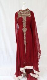 Beautiful Designer Pakistani Asian Dress / Bridal Wedding / Mehndi Party Dress Shalwar Kameez Suit