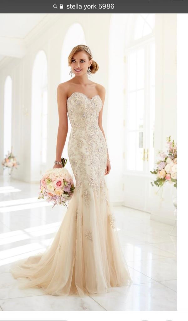 Beautiful stella york 5986 gold wedding dress size 10 in weston beautiful stella york 5986 gold wedding dress size 10 junglespirit Image collections