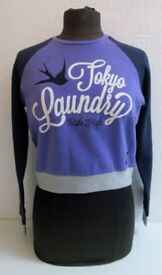 Job Lot of 7- 'Tokyo Laundry' Ladies Purple Sweatshirts - Size 8 - New With Tags - CAR BOOTS/MARKETS