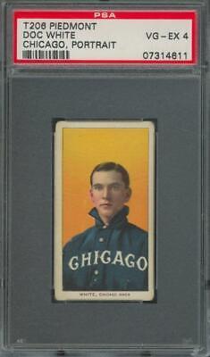 1909 T206 Piedmont Portrait Chicago Doc White VG-EX PSA 4