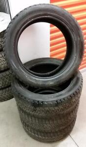 (H196) Pneus Hiver - Winter Tires 245-50-20 Bridgestone 7/32