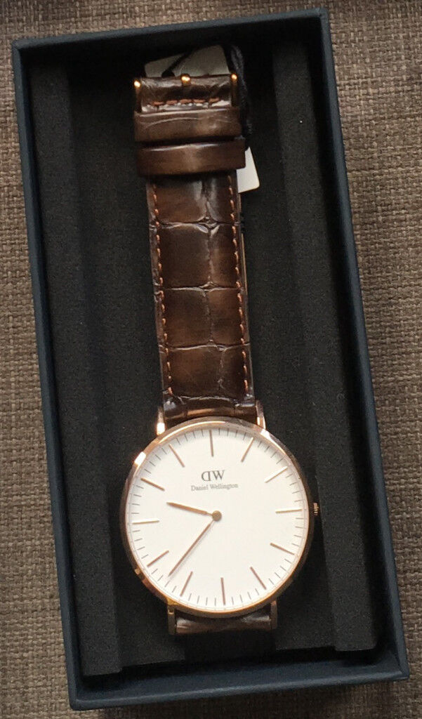 acc1aa1a84c09 Daniel Wellington Mens 40 mm Classic York Watch